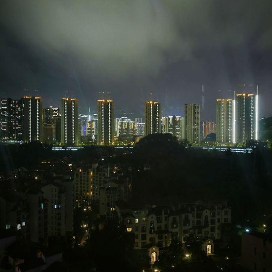 Bonne nuit, Guiyang. Night Skyscraper Cityscape Urban Skyline City Office Building Exterior No People Modern Skyline City Cityscapes Guiyang Cityscape Guizhou