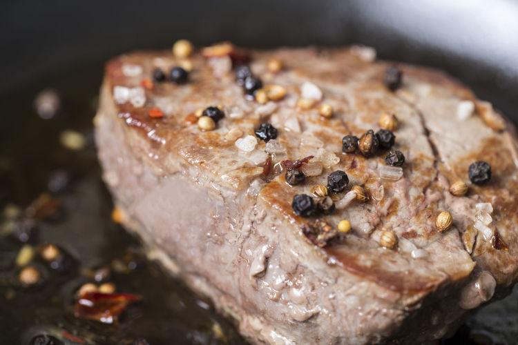 fresh cooked medium pan steak filet Steaks Well Done  Animal Flesh Meat Medium Group Of People Steak Steak Dinner