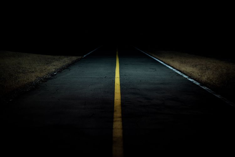 Darkness Dark Yellow Line LINE Yellow The Way Forward No People Dividing Line Yellow Road Night Outdoors EyeEmNewHere