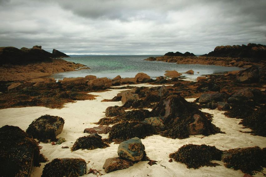 Clachtoll Beach Sand Sea Rocks Nature Sky Outdoors Landscape No People Day Horizon Over Water Scenics Water Coastline Scotland Coast Overcast North Coast 500 Clouds Grey Sky Cloud - Sky