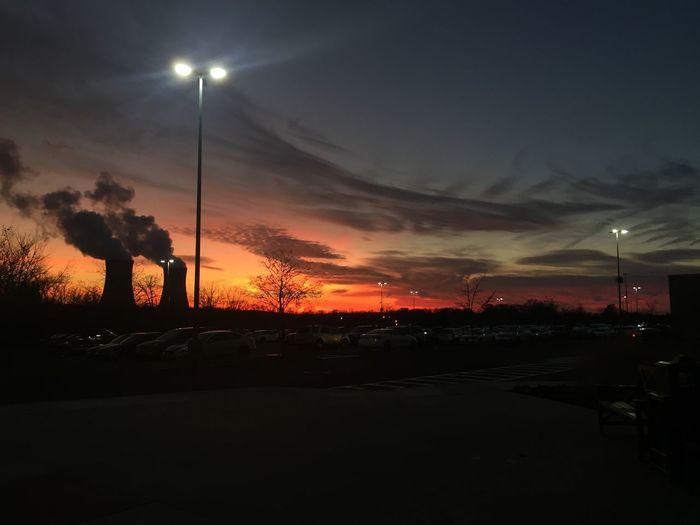 Sky Street Light Illuminated Sunset Cloud - Sky Night Road Scenics Outdoors