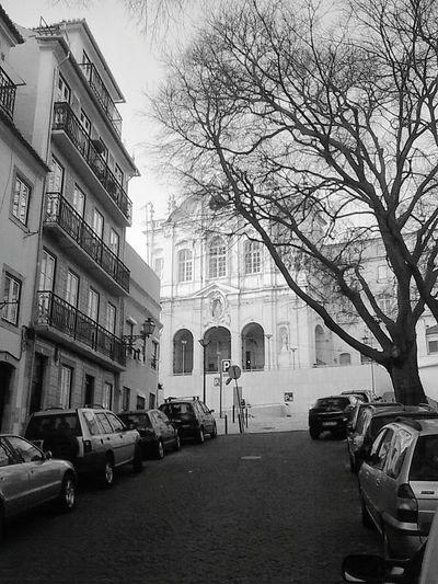 Lisboa Vintage Black & White Largo De Jesus