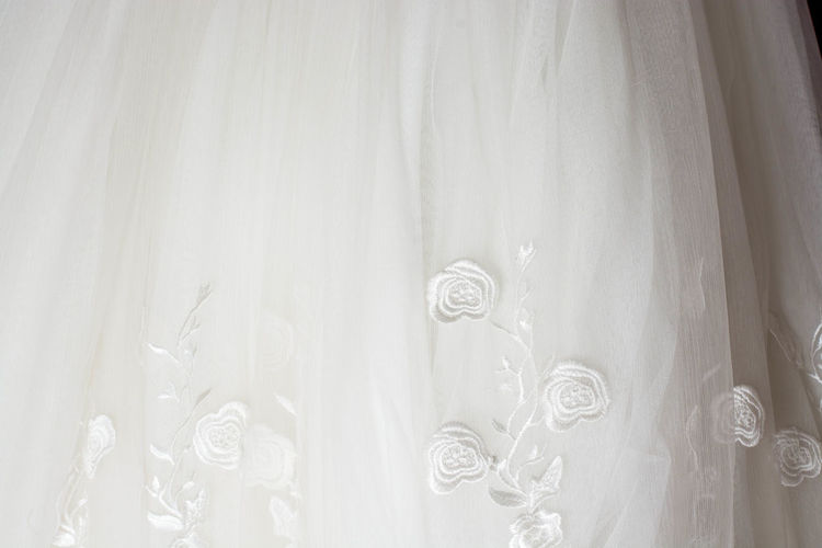 Art And Craft Backgrounds Celebration Close-up Curtain Day Design Event Full Frame Indoors  Life Events No People Pattern Textile Transparent Veil Wedding Wedding Dress White Color