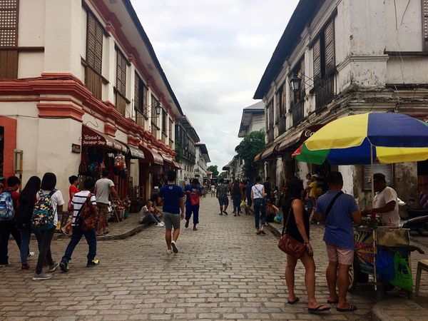 Vigan Philippines Building Exterior Architecture Built Structure Men Large Group Of People Real People Day Outdoors Sky Women Lifestyles City Adult People #EyeEm Philippines