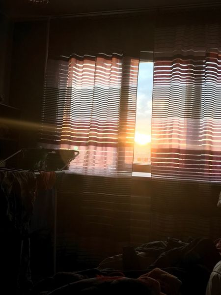 Window Indoors  Sunlight Curtain Home Interior Day Close-up Stripes Sunrise Drapes  No People No Effects Made With IPhone 7