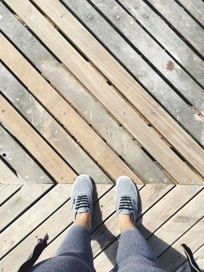 Vans Boardwalk Wood Deck POV Point Of View