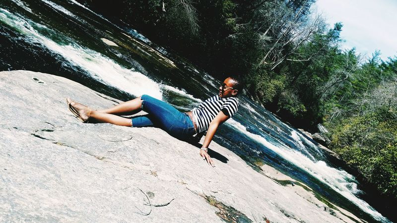 Sunkissed Adventure Nature, Waterfall , Park , RoadTripxUSA , Northcarolina , Rainbowfalls SpringBreak , Travel , Wanderlust