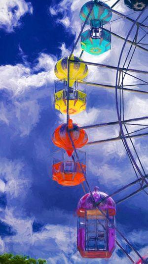 Carnival EyeEmNewHere Ferris Wheel Ferriswheel Summertime Cloud - Sky Dissabled Dissabled Rides Eye4photography  Fairs Handicapped Sky Summer Week On Eyeem