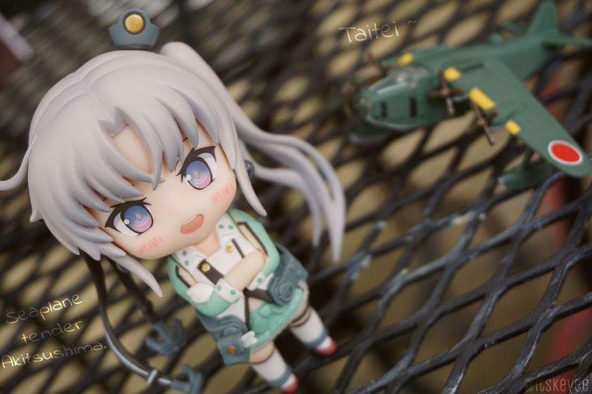 Akitsushima: Seaplane-tender: Akitsushima here. I'll be in your care, and don't forget about Taitei-chan! Close-up Cute Day Focus On Foreground Lifestyles Multi Colored Nendoroid Selective Focus Akitsushima Outdoors Creativity Portrait No People Toy Art Figurine  艦コレ 艦隊これくしょん (null)ねんどろいど Anime Toyphotography Outdoor Photography Kantaicollection Kancolle