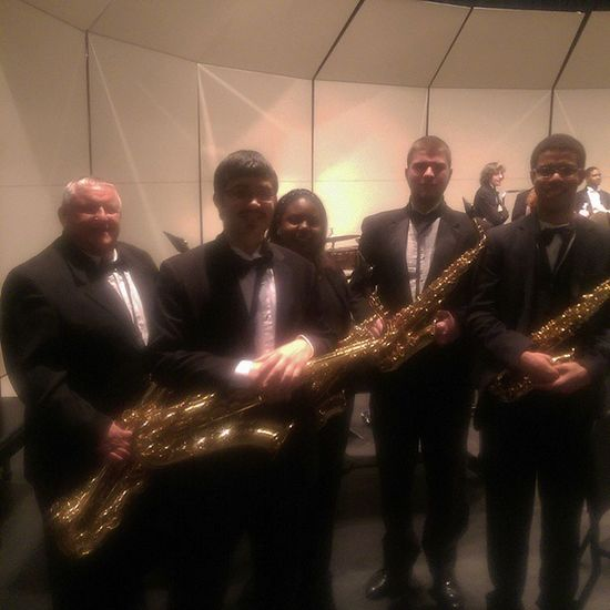 Sax section after the concert