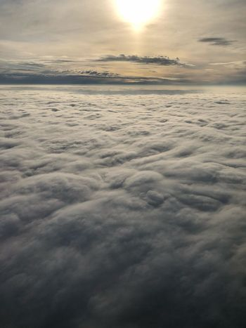 Above the clouds EyeEmNewHere Windowseat KLM Airplane Newoneyeem Sunlight Sunisalwaysshining Aboveandbeyond Above The Clouds Clouds Cloudscape Aerial View Sky Cloud - Sky Beauty In Nature Tranquility Scenics - Nature Tranquil Scene Sea Horizon Nature No People Idyllic EyeEmNewHere Capture Tomorrow It's About The Journey