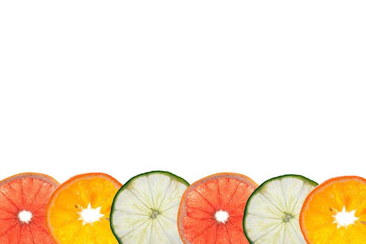 citrus fruit Citrus Fruit Food Freshness Fruit Grapefruit Healthy Eating Lime Multi Colored Orange Studio Shot White Background