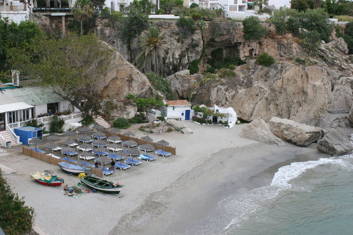 Beautiful Houses on the Cliffs of Nerja Nerja Andalucia Nerja Coast Nerja Coastal View Nerja Coastline Nerja Spain Nerja Beach Nerja Beauty Spanish Coastline Architecture Day Nature No People Outdoors Water White Houses