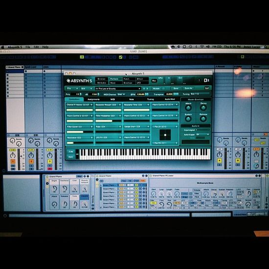 Mmmmm! :) Absynth5 Abletonlive Mysetup Live music worship worshipmusic axiom61