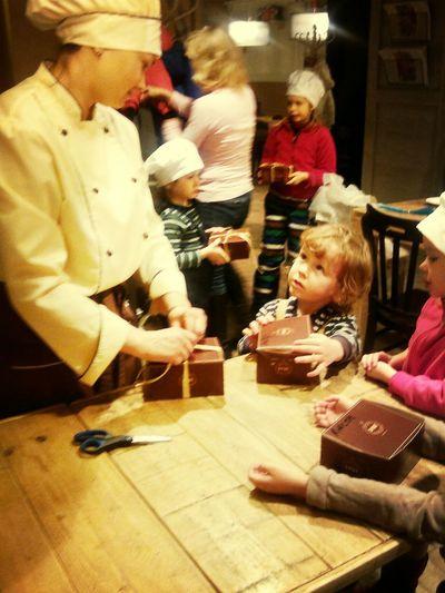 Children Taking Photos Cakes