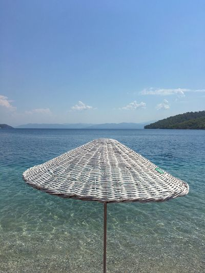 Water Sea Horizon Over Water Tranquil Scene Tranquility Sky Scenics Summer Seascape Beauty In Nature Jetty Blue Vacations Sunshade Cloud Calm Travel Destinations Nature Outdoors Ocean Akyaka Akbuk