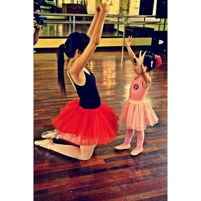 This is my little girl with her ballet teacher.. she gave an instruction to my little girl before a photo session, as a little ballet model (3 y.o.) Ballerina Kids HDR