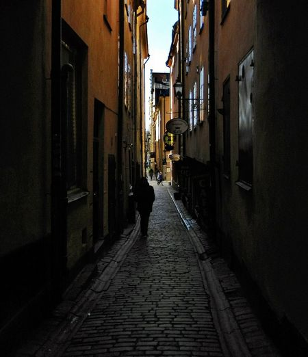 Absence Alley Architecture Building Building Exterior Built Structure Cobblestone Diminishing Perspective Empty Exterior Leading Narrow Residential Structure Sidewalk Street The Way Forward Walking Wall