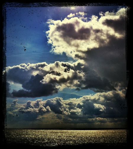 Travelling From My Window Sony Xperia Snapseed Waddenzee NEM Clouds