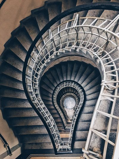Black Madonna Prague Spiral Staircase Steps And Staircases Railing Steps Architecture Built Structure Spiral Stairs High Angle View Stairs The Architect - 2018 EyeEm Awards The Architect - 2018 EyeEm Awards