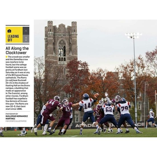 One of my shots made it into this week's Leading Off section of @sportsillustrated's digital issue! Read about it: http://wp.me/p3BUIJ-19 in my blog. Nofilter DSLR Canon Collegefootball Fordham Bucknell igers igersny instagramnyc Bronx NYC NewYorkCity NewYork
