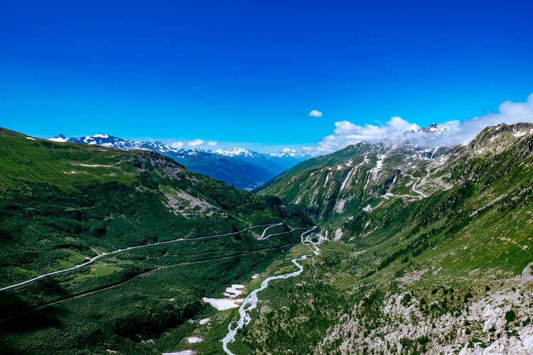 Alpen Alps Blue Sky Furkapass Mountains Schweiz Swiss Alps Switzerland