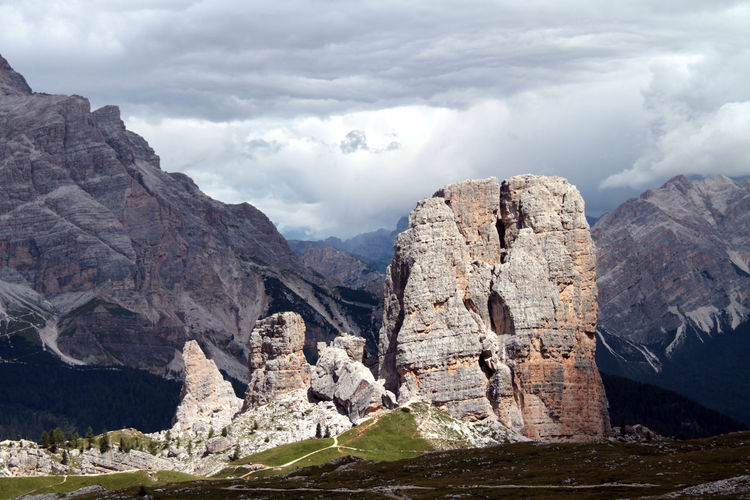 Dolomites Dolomiten Cortina Mountains Cortina D'Ampezzo 5 Torri Mountain Peak Mountain View Alpine Landscape Alps Italy Panoramic View Eyeemmasterclass Eyeempic Mountains And Clouds Mountain Cloud - Sky Scenics - Nature Sky Beauty In Nature Rock Mountain Range Tranquil Scene Nature Rock - Object Non-urban Scene Solid Tranquility Rock Formation No People Formation Environment Day Landscape Rocky Mountains Outdoors Eroded