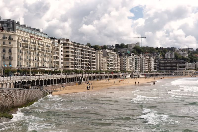 La Concha beach in San Sebatian/Donostia Spain. SPAIN Cityscape Perspective Check This Out Eye4photography  Pattern, Texture, Shape And Form Architecture Vacations Beach Travel