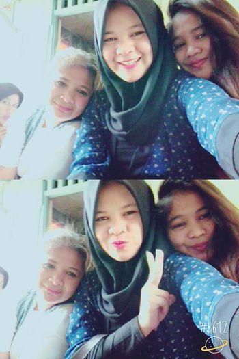 Sisterhood ♥😘 selfie dulu mumpung aku pulang Tasikmalaya😀