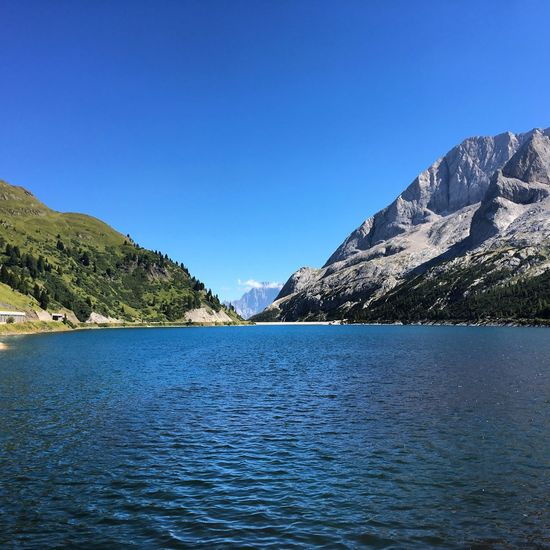 Mountain Scenics Blue Lake Dolomites, Italy Italy Beauty In Nature Motortrip