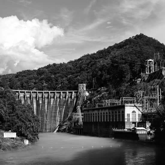 Cheoah Dam Cheoah Dam Dam Water Blackandwhite Black And White Black & White Industrial Power Human Achievement Old FUJIFILM X-T1 Travel Travel Photography