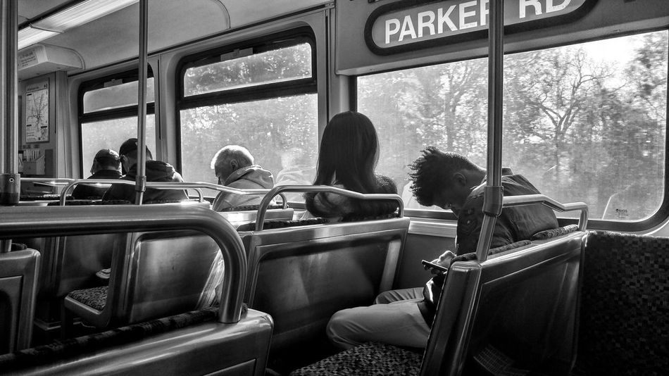Monochrome Dallas Portraits Black And White Commute Morning Commute Men Sitting Women Student Window Passenger Train Train Public Transportation Commuter Train Train Interior Train - Vehicle Stories From The City This Is My Skin The Street Photographer - 2018 EyeEm Awards