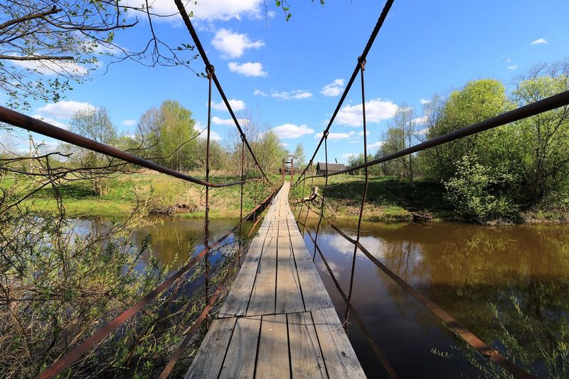 Bridge - Man Made Structure Nature Sky Footbridge Architecture Water