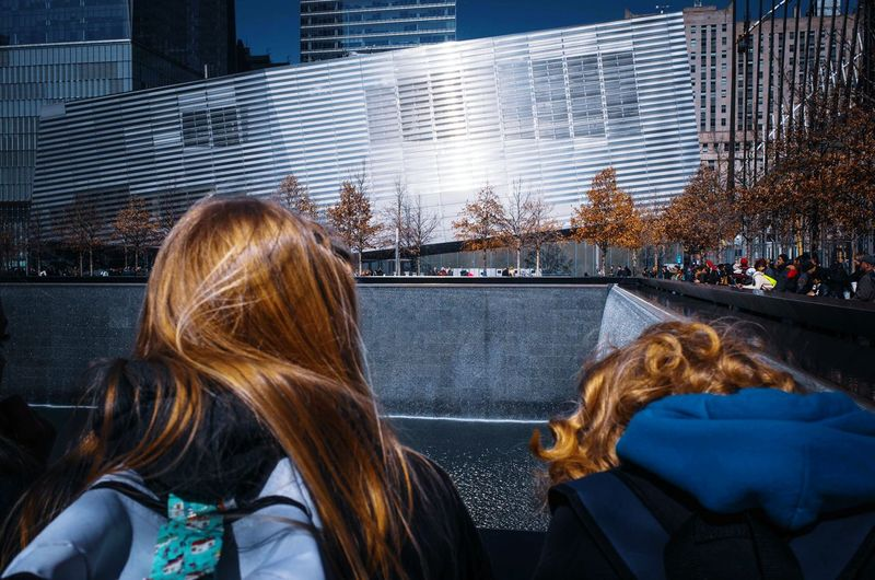 Ground Zero #urbanphotography Streetphotography #travel #nyc #wtc #worldtradecenter #trip #memories #NYC Blond Hair Women Water Headshot Sky