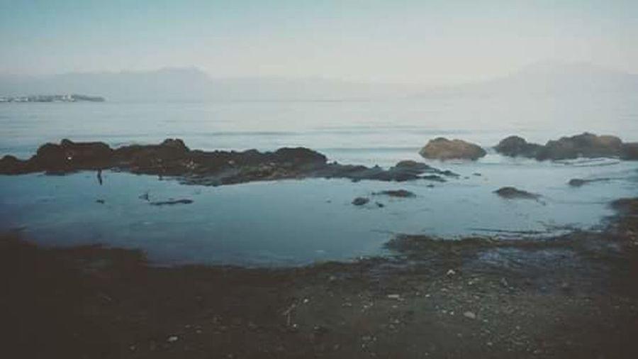 La pudeur Du Lac // Water Tranquil Scene Tranquility Horizon Over Water Beauty In Nature Rock - Object Idyllic Sky Calm Coastline Remote Majestic Landscape Solitude Season  Season  Creativity No Love