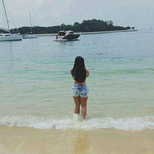 The Essence Of Summer Me Singapore Island Lazarus Island Lazarus Sea Summer Bikini Backview Yacht Holidays Denim Blue