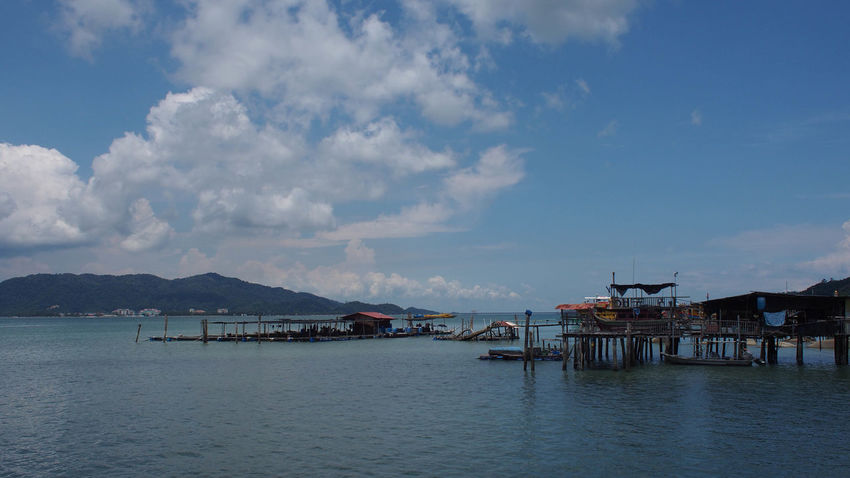Tranquility view of blue ocean and blue sky on Pangkor Island, Malaysia Holiday Jet Boat Nature Ocean View Pangkor Island Architecture Beach Beauty In Nature Blue Blue Sky Blue Sky And Clouds Day Nature Nature_collection No People Ocean Outdoors Sand Scenics Sea Sky Stilt House Tranquility Water Waterfront