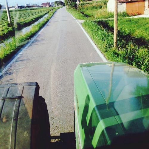 Sul trattore