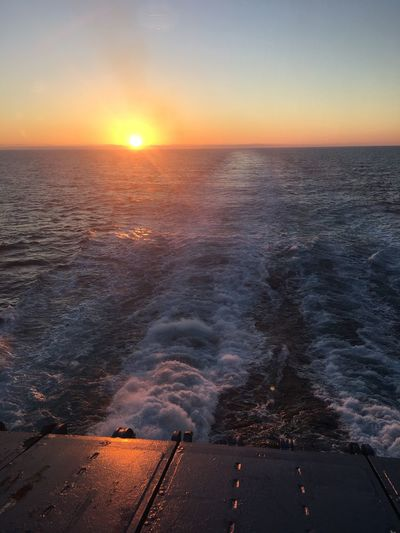 Sunset Horizon Over Water Sea Atlantic Ocean Goodnight Iceland216