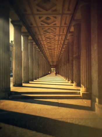 Architecture Architectural Column In A Row Column Colonnade Famous Place History The Way Forward Perspectives Perspective Photography Historical Building Historical Place Museumsinsel Berlin Museumsinsel Berlin Sunrays Architecture_collection Architecturelovers Architectureporn Berlin, Germany