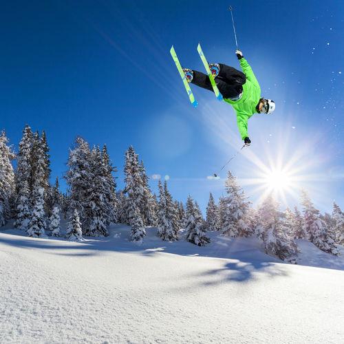 ski jump in