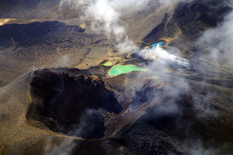 Aerial View Of Volcanic Mountains