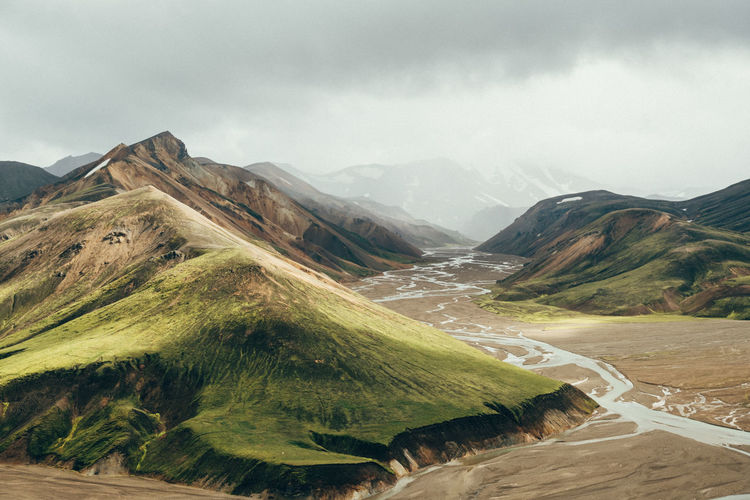 Iceland The Week On EyeEm Beauty In Nature Day Landmannalaugar Landscape Mountain Mountain Range Nature No People Outdoors Scenics Sky Tranquil Scene Water