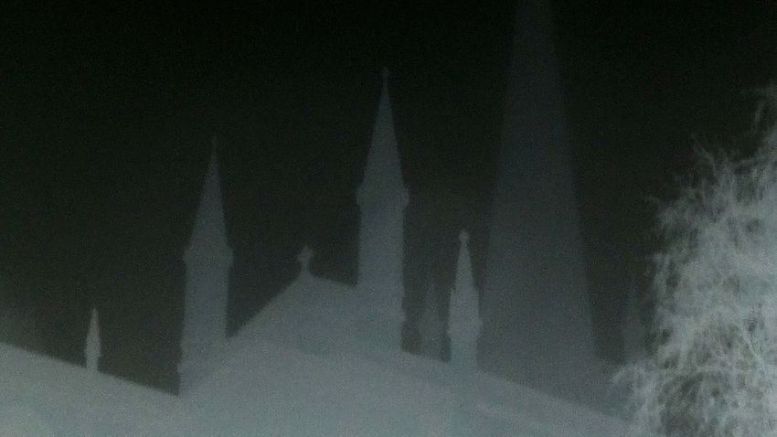 Backgrounds Shadow No People Darkness To Light Illuminated Outdoors Church Night Sky Darkness Optical Illusions