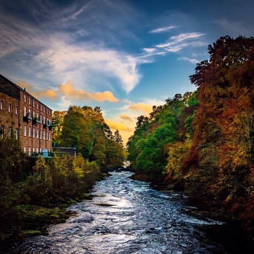 River Ericht flowing towards Blairgowrie in Pertshire after a rainy day cleared away to leave this beautiful sunset Scotland Sunset Blairgowrie Perthshire River Autumn Autumn Colors Autumn Leaves Pentax Pentax K-3