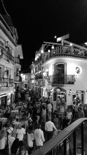 Night Illuminated Building Exterior Arts Culture And Entertainment City Large Group Of People Architecture People Nerja Nerja Beauty Nerja At Night Nerja, Malaga Nerja Night Photography Nerja Travel Destination Nerja Scenery HUAWEI Photo Award: After Dark