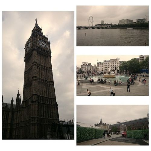 London as usual! It's great but it's always better when your with someone who makes it more memorable. ? Central London Centrallondon Bigben londoneye nationalgalerie kingscross stpancras station wicked summer vacation