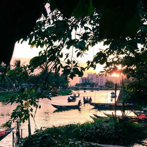 Connected By Travel Vietnam Vietnamese River Boat Sunset Travel Vietnamphotography Destination