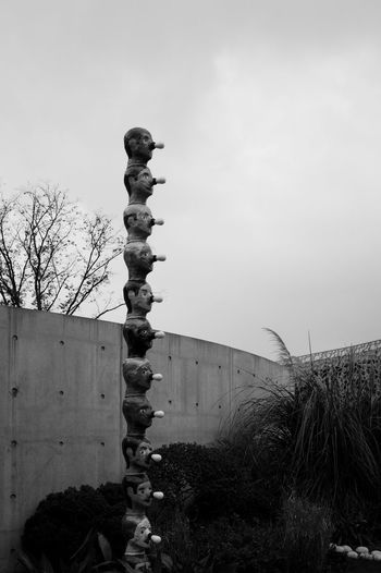 Sky Nature Architecture No People Plant Built Structure Day Building Exterior Tree Low Angle View Outdoors Clear Sky Building Religion Copy Space Wall - Building Feature Belief Growth Blackandwhite Scupture LEICA M
