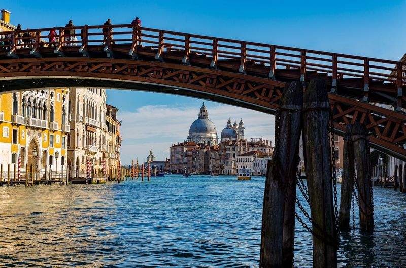 Grand Canal, Venice, Ponte dell'Accademia Italy Grand Canal Of Venice EyeEm Gallery EyeEm Selects Italy🇮🇹 Veneto Region Venezia Venice, Italy Architecture Built Structure Bridge Water Connection Sky Bridge - Man Made Structure Building Exterior Travel Destinations Waterfront Transportation Tourism Travel